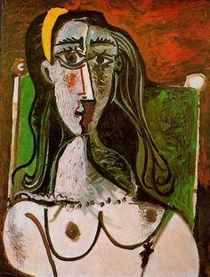 Pablo Picasso. Buste de femme assise. 1960 year