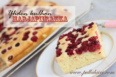 Yhden kulhon marjapiirakka (pellillinen) / One bowl berry bars Sweet Pie, No Bake Cake, Vanilla Cake, Sweet Recipes, Cheesecake, Yummy Food, Delicious Recipes, Deserts, Food And Drink