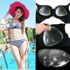 d852731c1e Triangle Transparent Silicone Push Up Bra Pad via Goods from Michal. Click  on the image to see more!