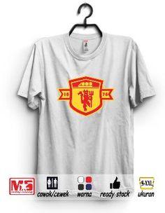 Kaos Distro Manchester Utd #1 Putih #Metsustore (Kaos Bola, Kaos Fans MU)