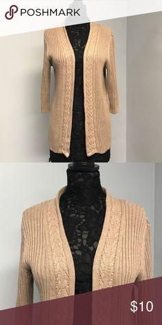Croft & Barrow tan cardigan Nice warm tan cardigan. In great shape. Croft & Barrow Sweaters Cardigans
