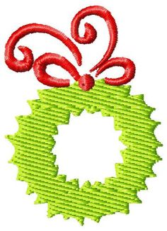 Machine embroidery.. Lovely Christmas Wreath that would be perfect for some of my projects.