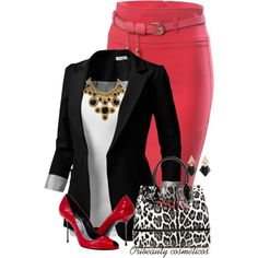 """""""Red & Black"""" by oribeauty-cosmeticos on Polyvore"""