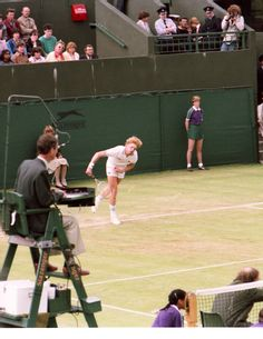 Shooting my first pro event.  Boris Becker on his way to winning his first Wimbledon in 1985