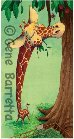 """Gene Barretta """"Giraffe"""" from his book, """"Dear Deer: A Book of Homophones."""""""