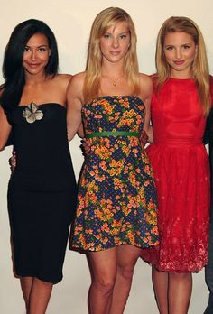 GLEE's The Unholy Trinity of Cheerios: Naya, Heather and Diana, playing Santa…