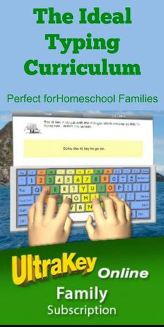 The UltraKey typing curriculum is perfect for homeschool families.