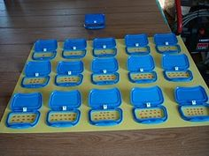 Little doors on baby wipes can be reused for numbers, shapes, colours, where is the mouse hiding, etc. Have fun with them.