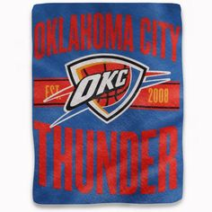 New! Oklahoma City Thunder Blanket 46x60 Micro Raschel Clear Out Design #OklahomaCityThunder
