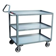 Ergo Cart, 2 Shelves, 30x60, Yellow by Jamco. $464.29. Ergonomic Cart, Load Capacity 1200 lb., Overall Length 48 In., Overall Height 35 In., Number of Shelves 2, Caster Size 5 In., Caster Type 2 Rigid, 2 Swivel, Capacity per Shelf 600 lb.