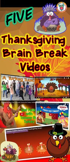 Check out these fun Thanksgiving themed brain breaks to use in the classroom. Thanksgiving Videos, Thanksgiving Preschool, Thanksgiving Prayer, Thanksgiving Appetizers, Thanksgiving Outfit, Thanksgiving Decorations, Kindergarten Classroom, Classroom Activities, Classroom Fun