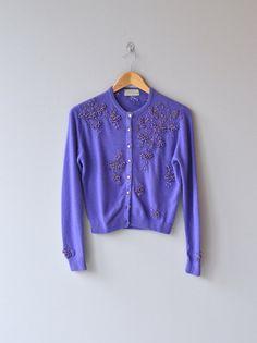 Calais cashmere cardigan vintage 1950s sweater by DearGolden