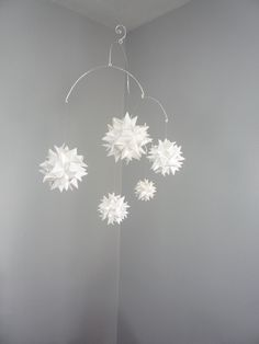 So simple and creative.  I would love to put this above Stella's bed.  Monrovian stars.  Works with any color or room theme