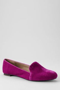 Women's Vivian Venetian Flat shoes from Lands' End - I love the tint that the velvet material shows off.