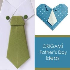 Origami Fathers Day Ideas This collection of origami shirt and tie ideas include how to fold a money into a shirt. For tweens and up -What do you think?