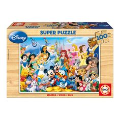 The Wonderful World of Disney 100 Piece Puzzle. 100 Piece Puzzles, Wonders Of The World, Pastels, Mickey Mouse, Baseball Cards, Christmas 2015, Woody, Party, All Disney Princesses