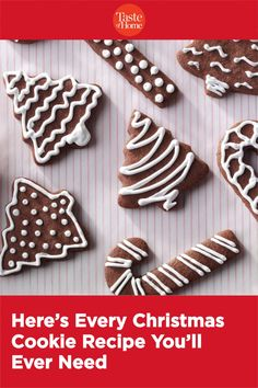 Here's Every Christmas Cookie Recipe You'll Ever Need Gingerbread Cookies, Christmas Cookies, Taste Of Home, Holiday Desserts, Cookie Recipes, Essential Oils, Friendship, Animals, Animales