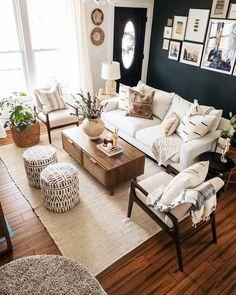 Boho Living Room, Apartment Living, Home And Living, Living Room Decor, Living Area, Living Spaces, Cozy Living Rooms, Modern Living, Home Decor Shops