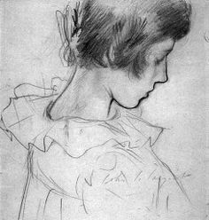John Singer Sargent 1856-1925.  Study_Dorothy_Barnard