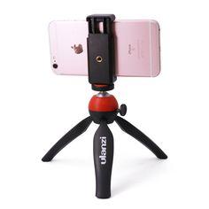 Ulanzi mini stativ mit halter halterung/selfie tragbare kamera tischstativ für iphone sony samsung handy