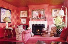 CH. This room is way too pink! It might be analogous but I feel like it is monochromatic