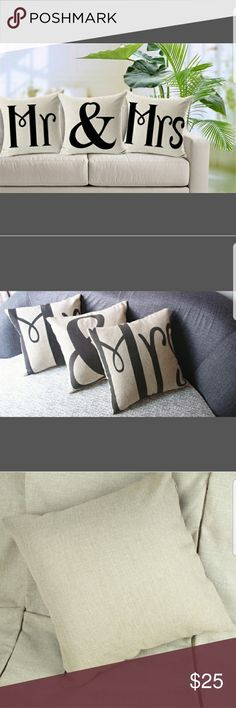 MR & MRS Throw Pillow Cases Item: Cushion Cover, Pillow Cover,Decorative pillow covers  Material: Cotton Linen    Description: NOT INCLUDING FILLING, ONLY A CUSION COVER  Cushion Specification: 45cm*45cm (approximately 18in*18in)  Sizes will be 2-3cm (about 08in ~ 1.2in) differs due to the manual sewing  Product Printing: It is single   sided printing, and the back is pure hemp color  Care instruction: Machine or Hand Wash, do not bleach, warm iron if needed Other