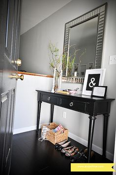 Fairmont Mirror is perfect above an entryway table.