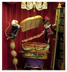 dinner for schmucks mice | Dinner for Schmucks Mice Dioramas | Miniature mice and other mouse ...