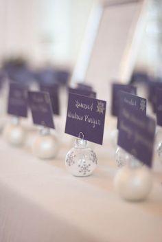 Winter wedding favors for Christmas wedding