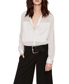 BF Style White Loose Fit Blouse