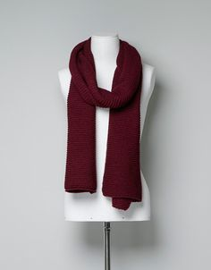 BASIC COLOURED KNITTED SCARF - Scarves - Accessories - Woman - ZARA United Kingdom