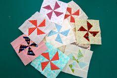 Quilt Maker Bitty Blocks: Flying Geese Pinwheel, April block   #qmbittyblocks xxx