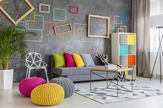 Ideias criativas e fáceis para a decoração da casa nova Living Room Photos, Living Room Paint, Living Room Grey, Living Room Interior, Living Room Decor, Interior Livingroom, Ideas Vintage, Design Your Bedroom, Colourful Living Room