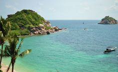 Coral View Resort private Beach in Koh Tao, Thailand)