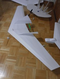 One flying wing from one sheet of foam board, no waste and another from two sheets, also no waste. Ready to fly!