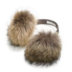 Coach Fur Earmuffs ($298) ❤ liked on Polyvore featuring accessories, hats, fur, acessorios, ear muffs, natural, coach earmuffs and fur earmuffs