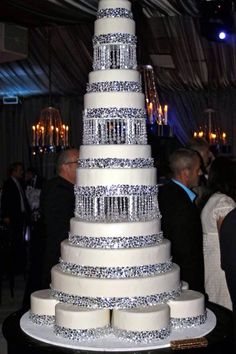 Beautiful large diamond wedding cake for your special day