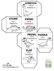 As it starts to get colder out and we are outside less often, I decided it's a good time to have some indoor gross motor games on hand to get out when we need to get moving. So I created this dinosaur movement game for a fun way to do that! This game is great...