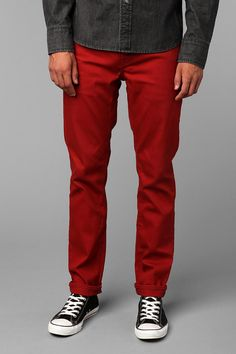 Levi's 511 Skinny Red Commuter Pant  #UrbanOutfitters
