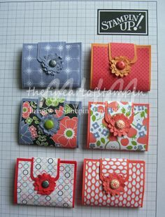 "The Fine Art of Stampin': Tutorial Tuesday - Mini Sewing Kit   could also be a ""wallet"" to hold money or gift card"