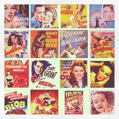 Old movie posters! I love classics. Thinking about doing a collage.