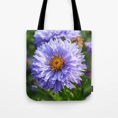 Purple Aster Tote Bag - Would make a lovely gift! - #totes #totebags #shoppingbags #society6 (affiliate link)
