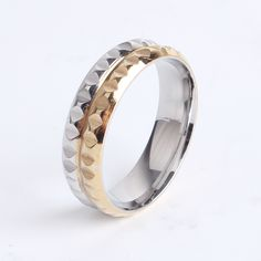 Find More Rings Information about 6mm gold and silver gear punk 316l Stainless Steel finger rings for women men wholesale,High Quality ring high,China ring resize Suppliers, Cheap steel nose ring from Chinese Jewelry Factory,Wholesale From Yiwu China on Aliexpress.com