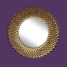 Gold spoon mirror @spoons #gold #mirror #diy