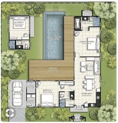 Mail - Mike and Annalie King - Outlook L Shaped House Plans, Pool House Plans, House Layout Plans, Modern House Plans, Small House Plans, House Layouts, Small Floor Plans, Building A Container Home, Container House Plans