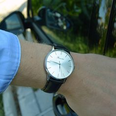 It's time to go, Classic Silver on the wrist. Free shipping worldwide - www.bonvier.com #bonvier #watches #watch