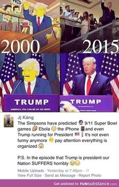 I trust the Simpsons and that's why I'm nervous