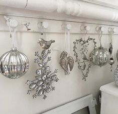 Silver Christmas, Plaid Christmas, Christmas Colors, Christmas Themes, Mercury Glass, Red And White Stripes, Shabby, Colours, Boards