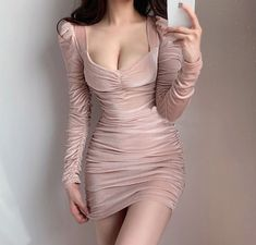 Kpop Fashion Outfits, Edgy Outfits, Cute Casual Outfits, Pretty Outfits, Tight Dresses, Cute Dresses, Short Dresses, Korean Girl Fashion, Asian Fashion