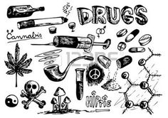 drug: collection of drugs isolated on the white background Illustration Cool Art Drawings, Pencil Art Drawings, Doodle Drawings, Art Sketches, Kritzelei Tattoo, Doodle Tattoo, Drugs Art, Arte Alien, Main Image